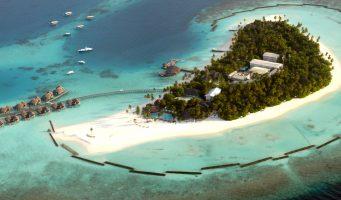île des Maldives et son atoll