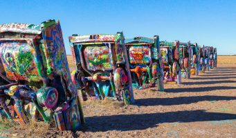 sculpture Cadillac Ranch à Amarillo
