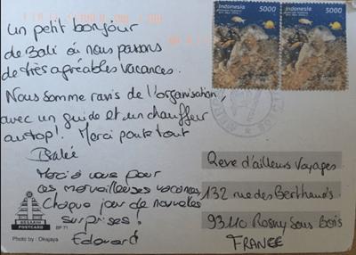 carte postale de Bali