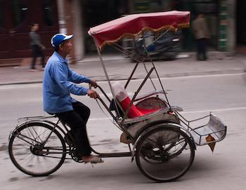cyclo-pousse à Hanoi