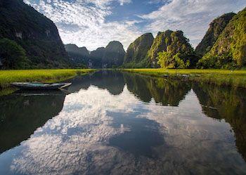 rizière dans la région de Ninh Binh