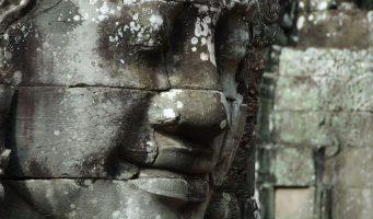visage d'une statue à Angkor