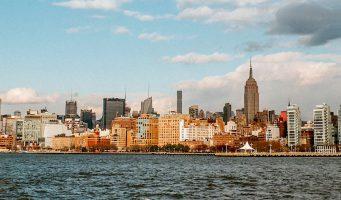 ville de New York vue de la mer